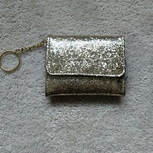 Gold glitter small wallet
